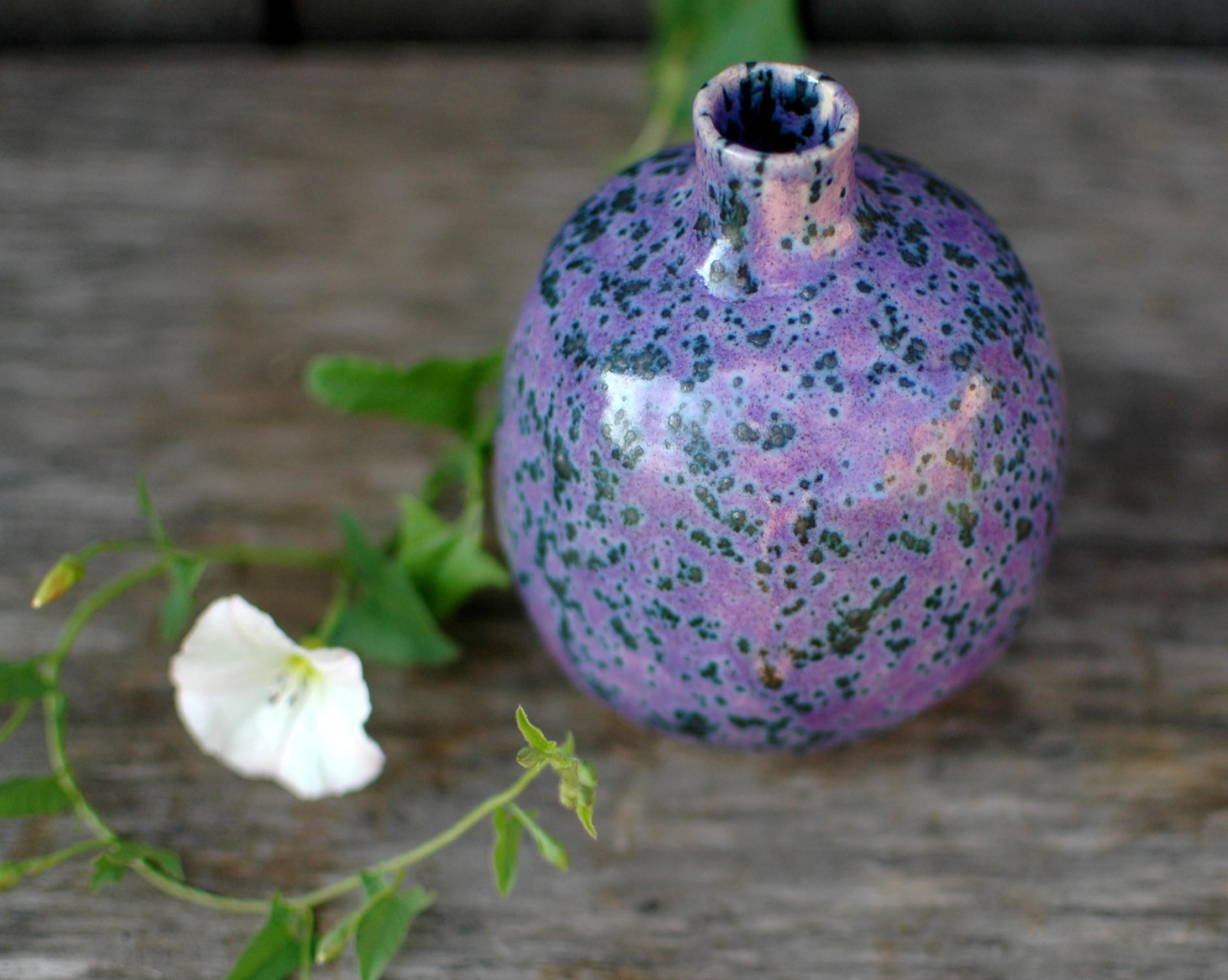 картинка Ваза керамическая лиловая - DishWishes.Ru
