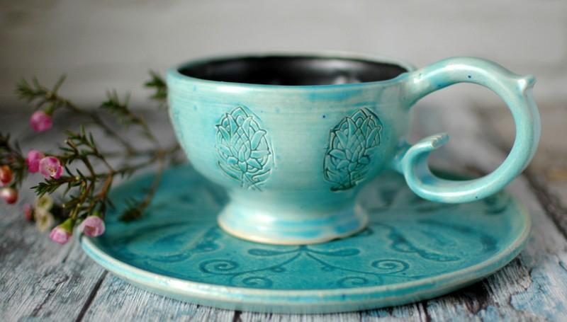 """картинка Чашка """"Ледяные цветы"""" - DishWishes.Ru"""