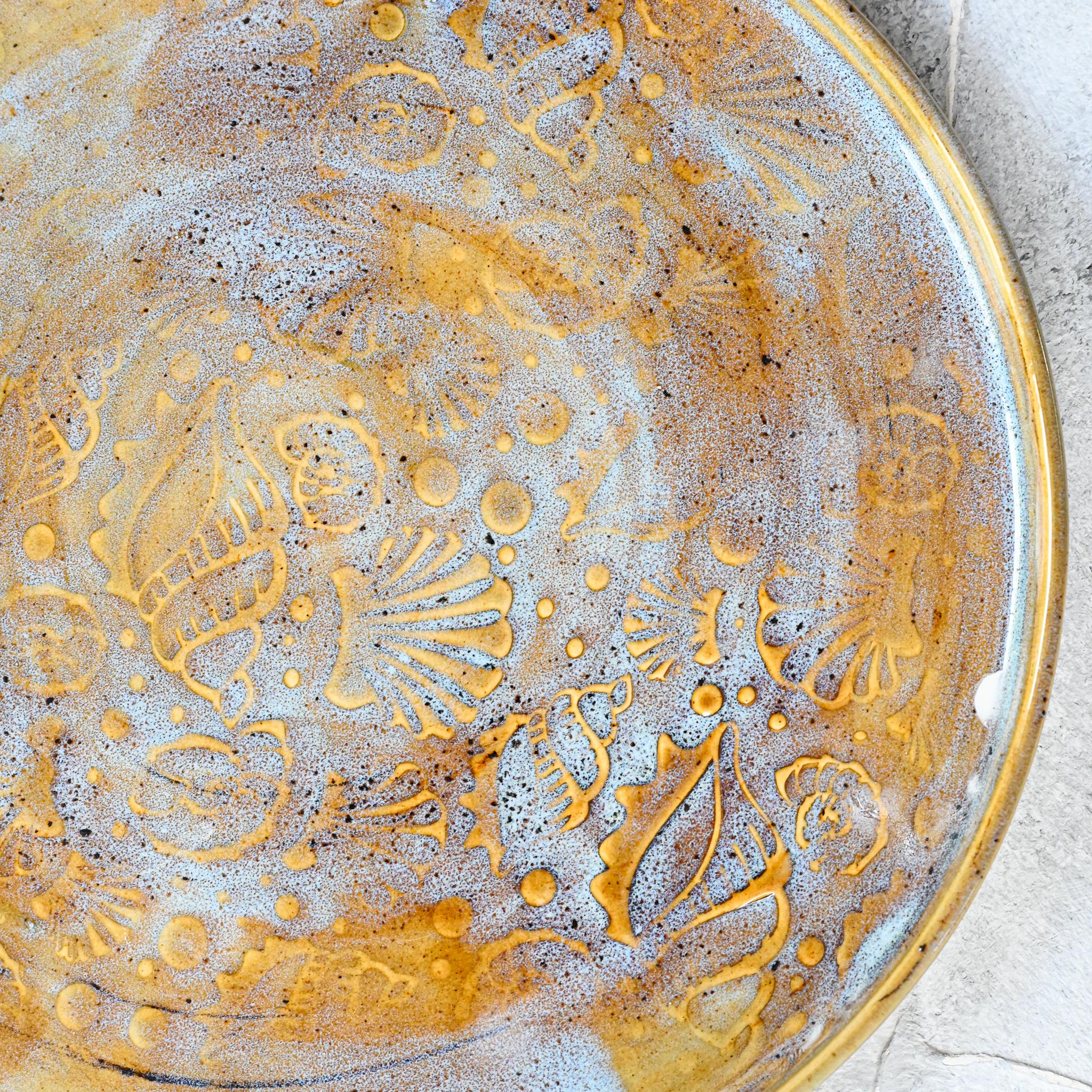 """картинка Керамическая тарелка """"Морское дно"""" 4 - DishWishes.Ru"""