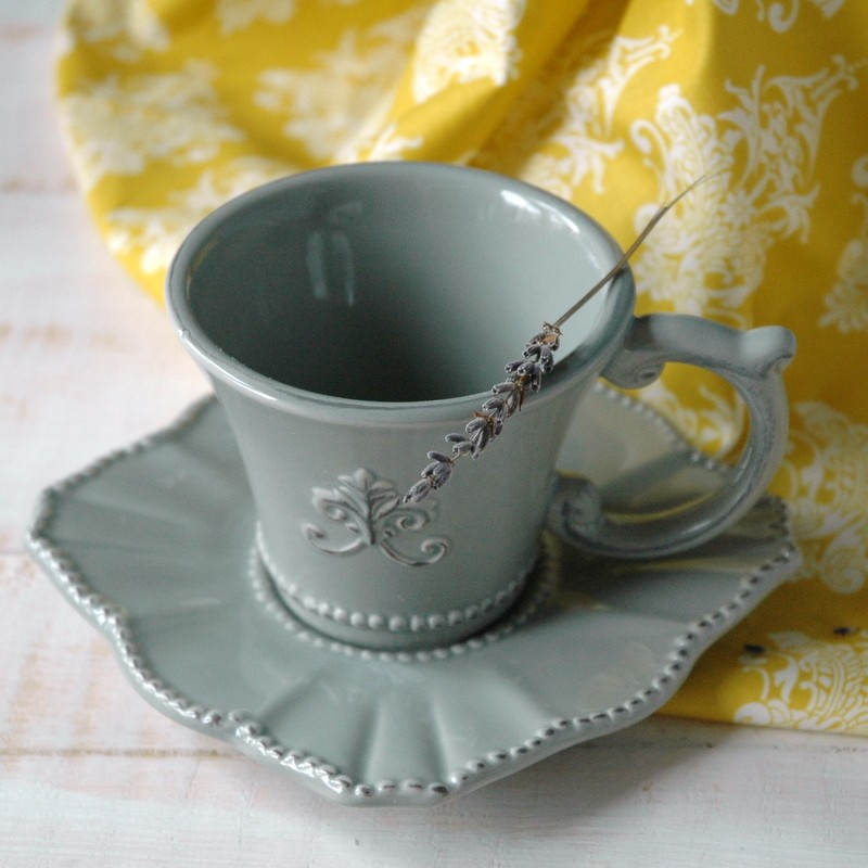 "картинка Чайная пара ""Флер де Лис"" - DishWishes.Ru"