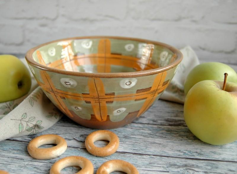 """картинка Керамический салатник ручной работы """"Солнце"""" - DishWishes.Ru"""