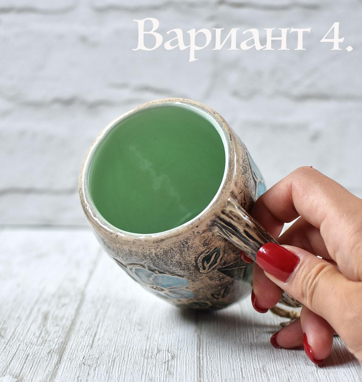 """картинка Высокая керамическая чашка """"Магнолия"""" - DishWishes.Ru"""