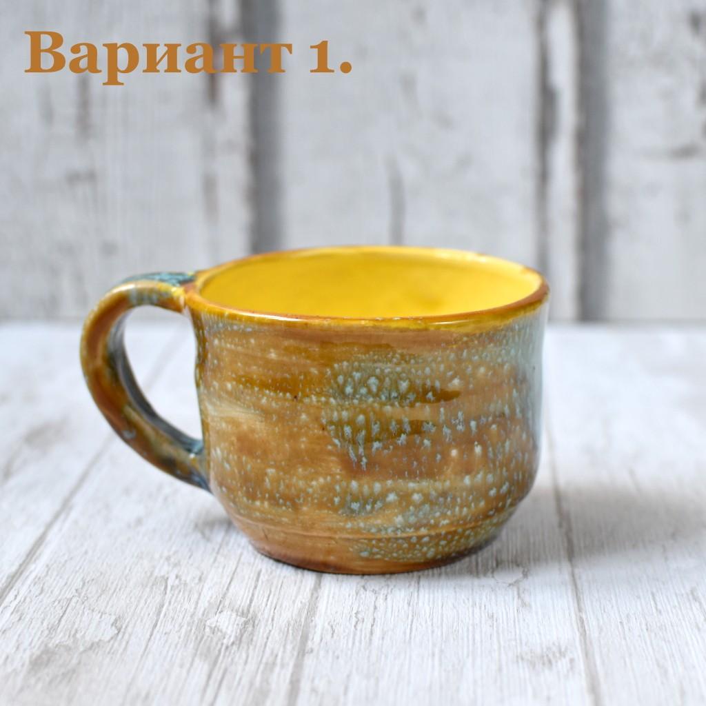 """картинка Глазурованная чашка ручной работы """"Лошадки"""" - DishWishes.Ru"""