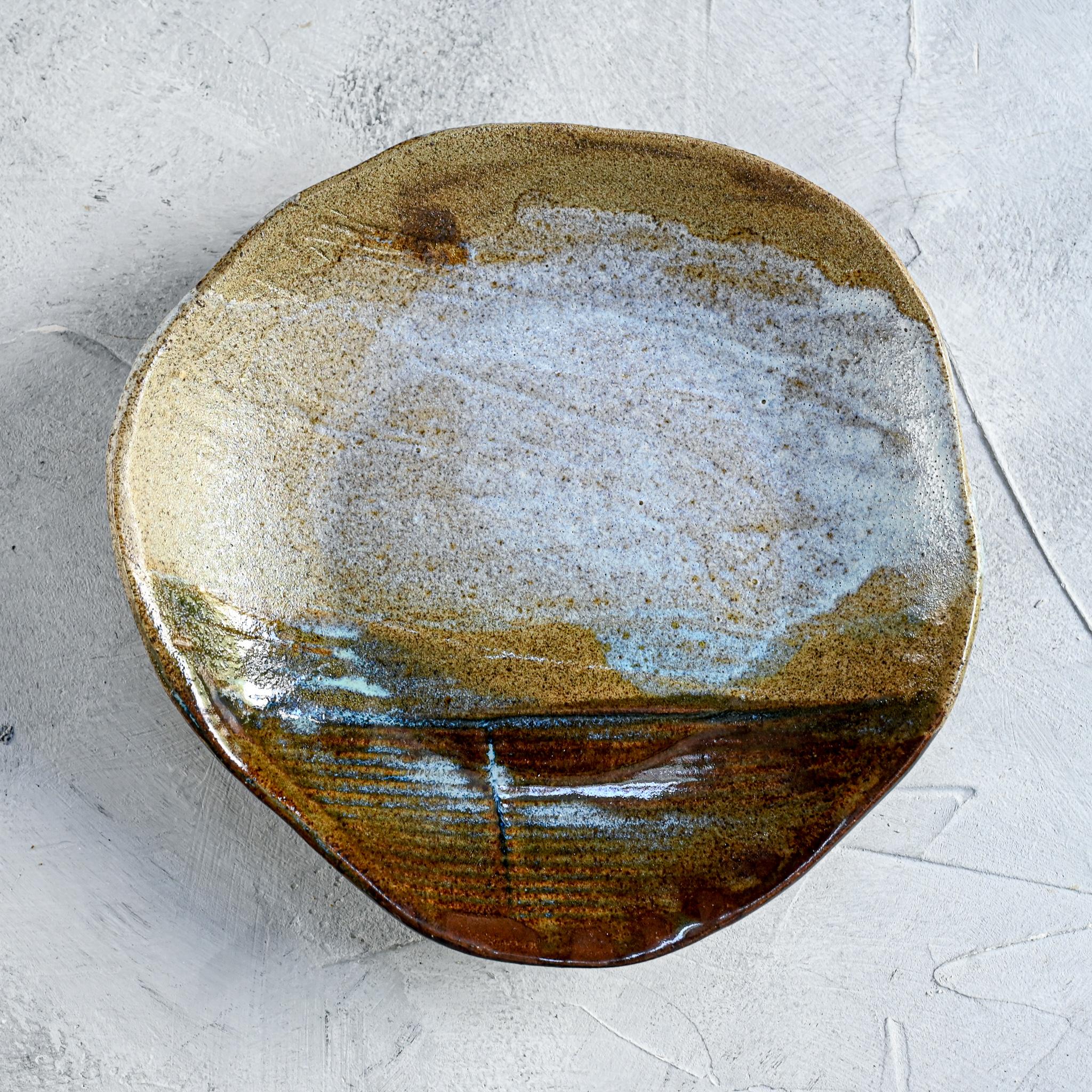 """картинка Тарелка """"Япония"""" неправильной формы темная - DishWishes.Ru"""