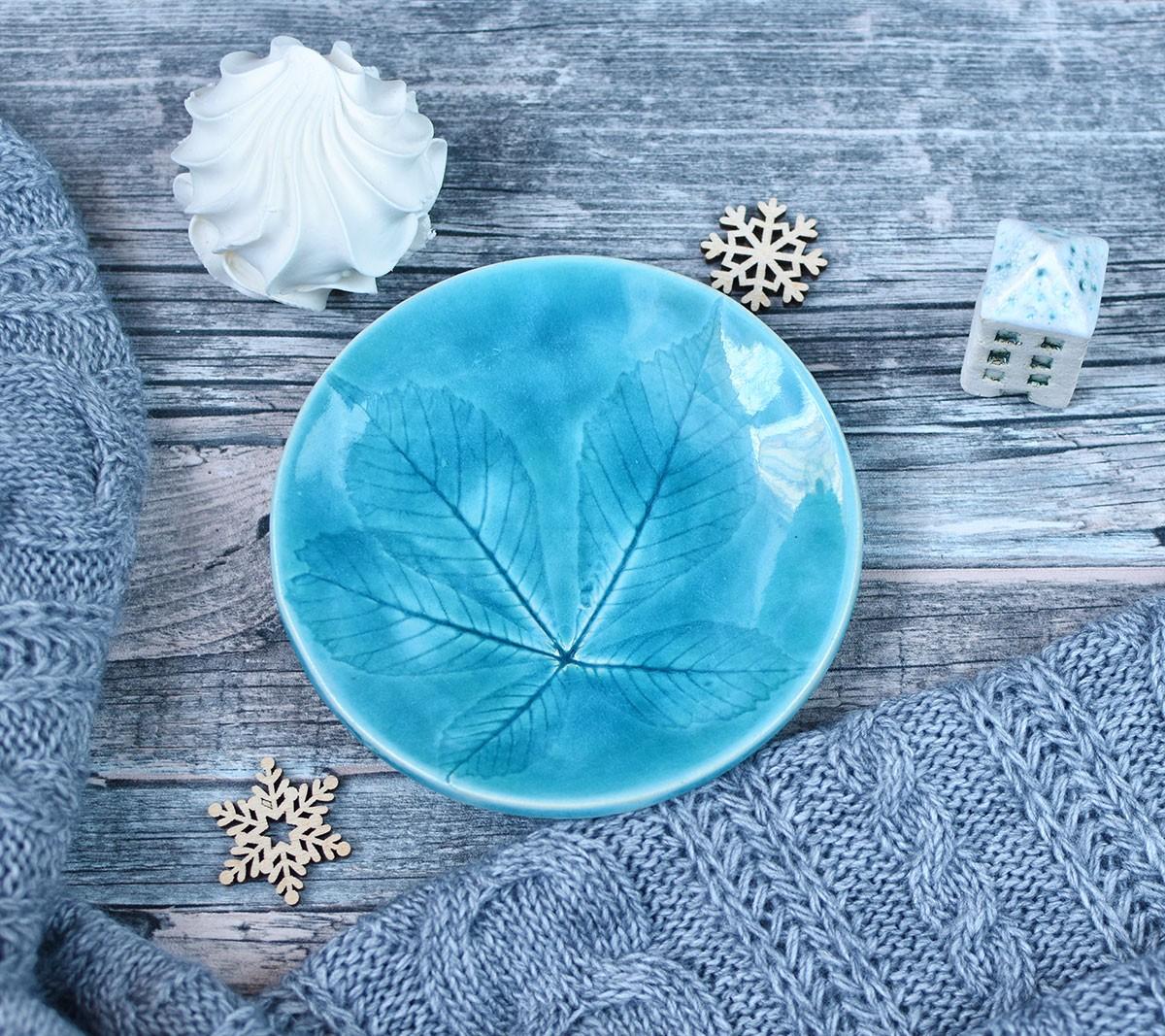 """картинка Голубая тарелка """"Каштан"""" - DishWishes.Ru"""