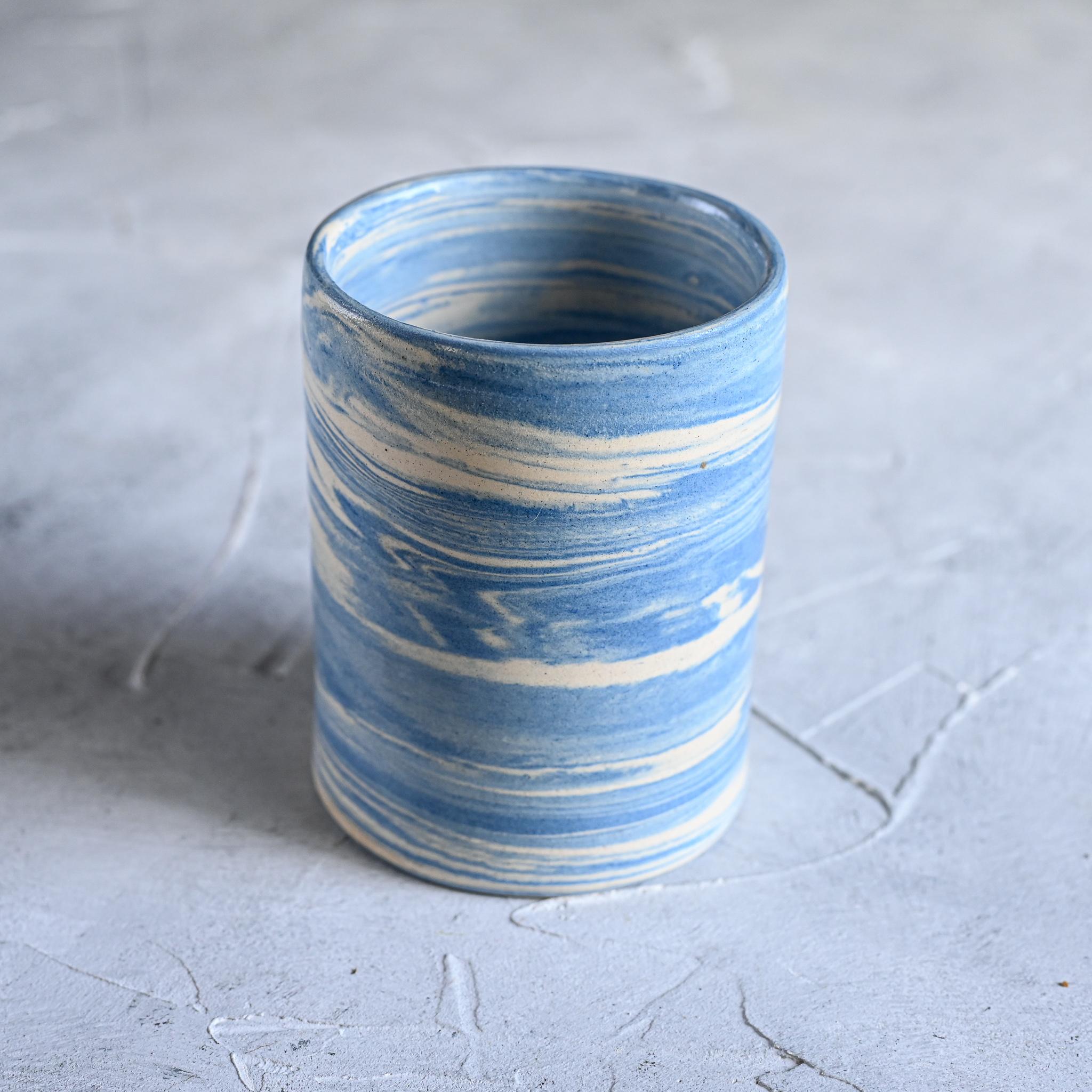 картинка Керамический стакан в технике нерияге 7 - DishWishes.Ru