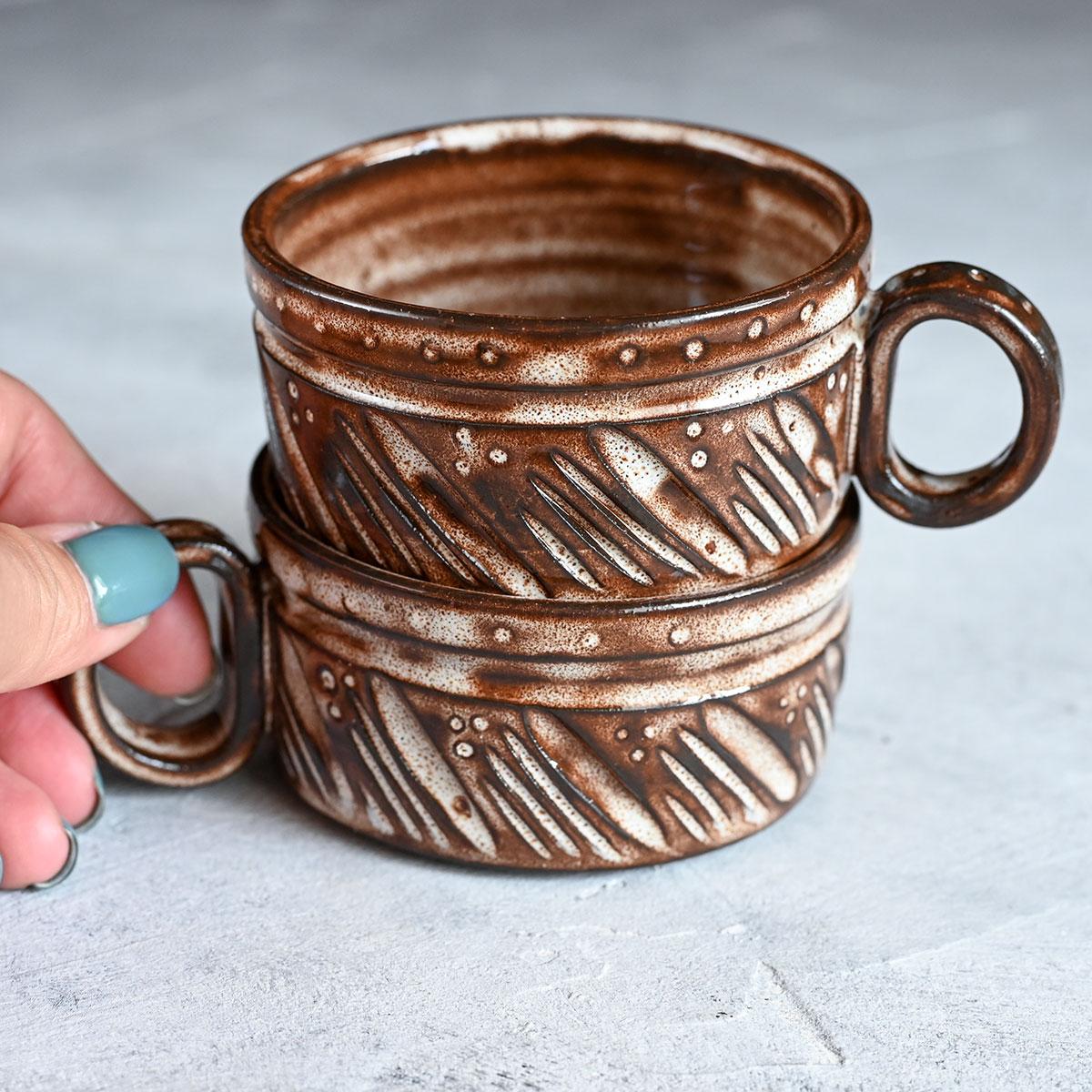 """картинка Пара кофейных чашек из серии """"Горький шоколад"""" 1 - DishWishes.Ru"""