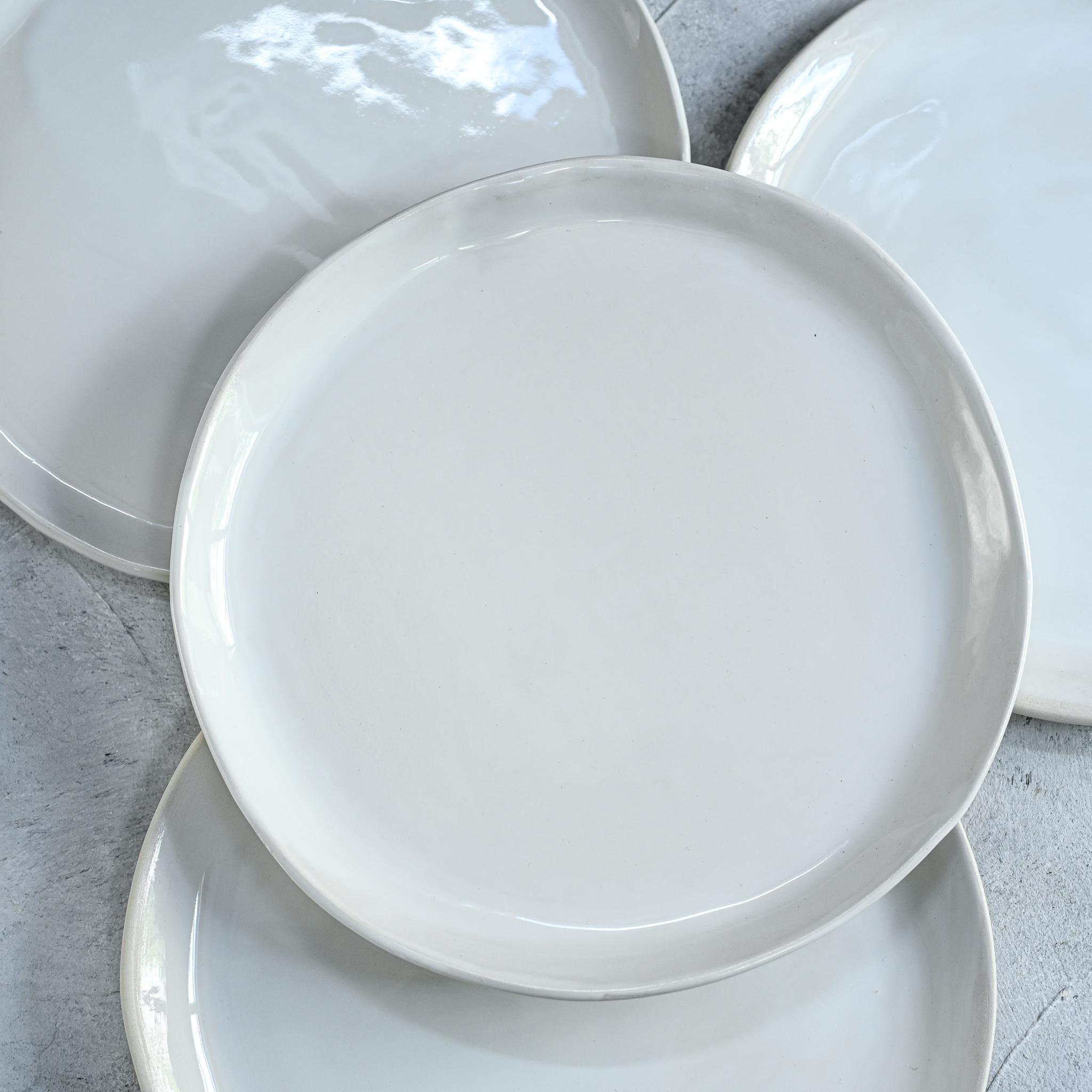 "картинка Керамическая тарелка ""Снег"" - DishWishes.Ru"