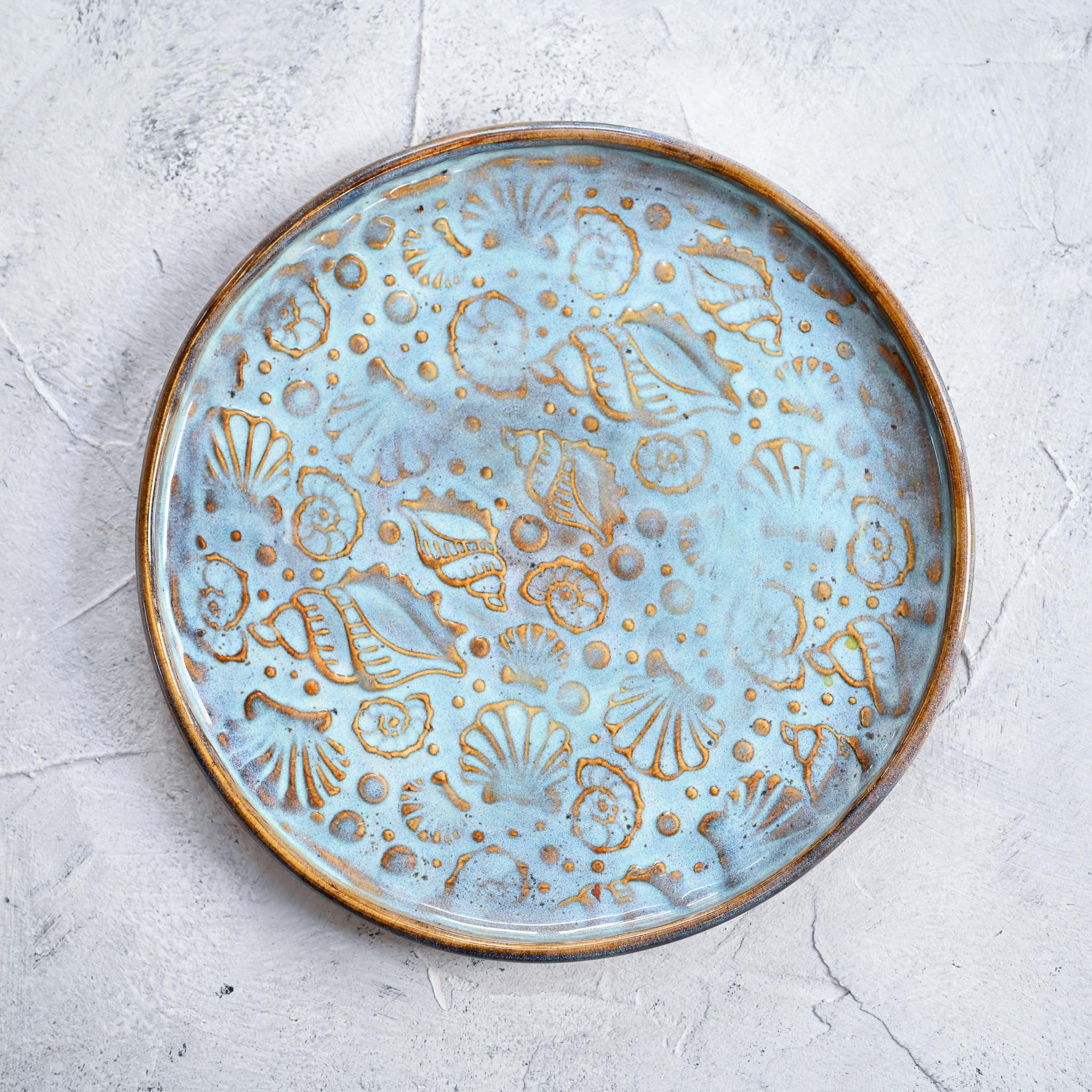 """картинка Керамическая тарелка """"Морское дно"""" 1 - DishWishes.Ru"""