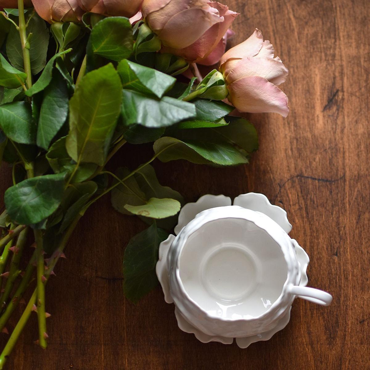"картинка Чайная пара ""Белый пион"" - DishWishes.Ru"