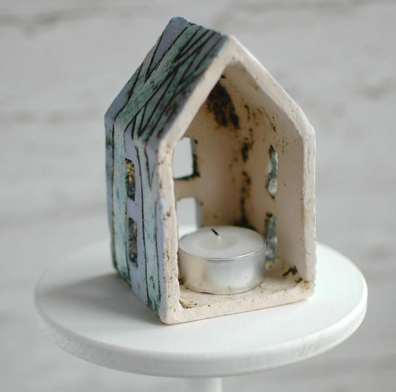 "картинка Керамический домик-подсвечник ""Утро"" - DishWishes.Ru"