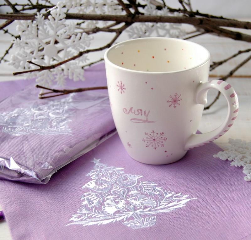 """картинка Кухонное льняное полотенце """"Елка"""" - DishWishes.Ru"""