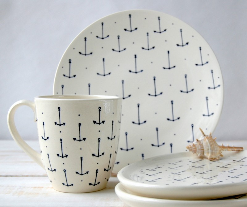 "картинка Тарелка круглая ""Морской стиль"" - DishWishes.Ru"