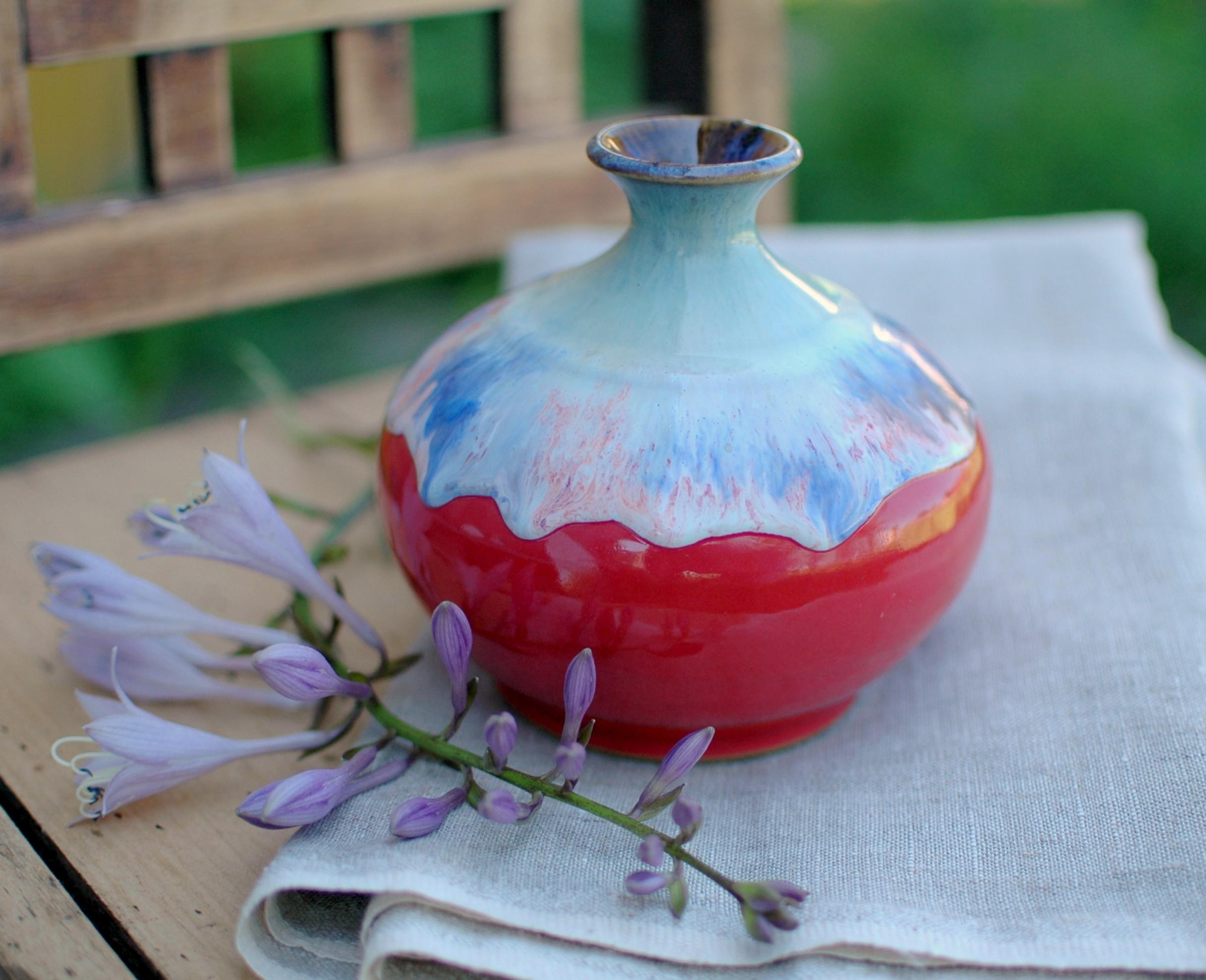 """картинка Керамическая ваза ручной работы """"Закат"""" - DishWishes.Ru"""