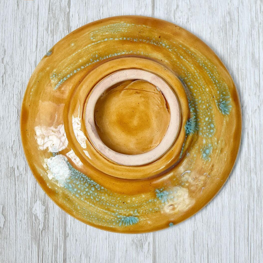 """картинка Керамическое блюдце ручной работы """"Лошадки"""" - DishWishes.Ru"""