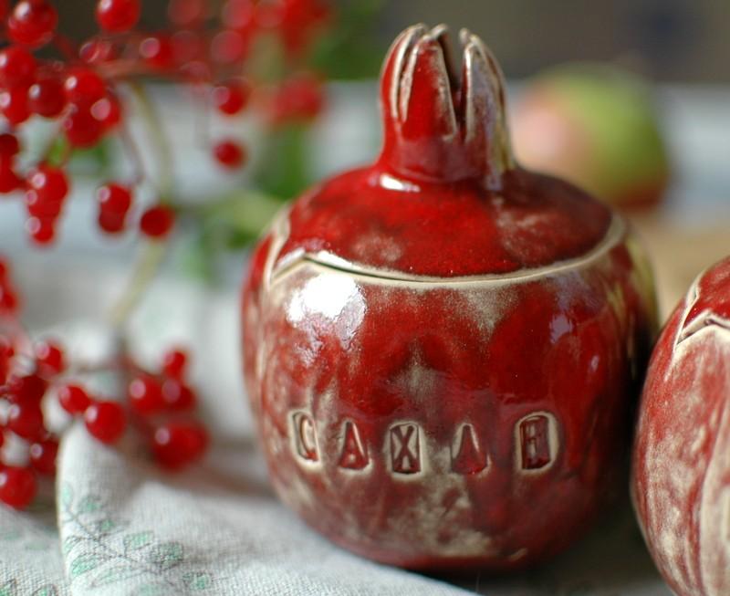 "картинка Набор керамических гранатов ""Сахар и Соль"" - DishWishes.Ru"