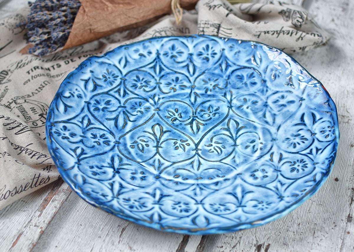 """картинка Большое керамическое блюдо """"Французское утро"""" - DishWishes.Ru"""