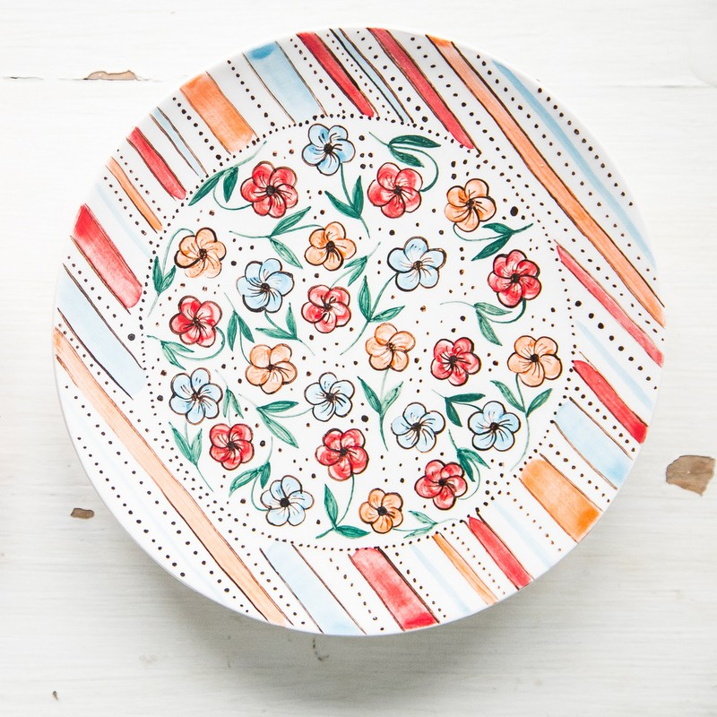 "картинка Блюдце ""Цветочная поляна"" - DishWishes.Ru"