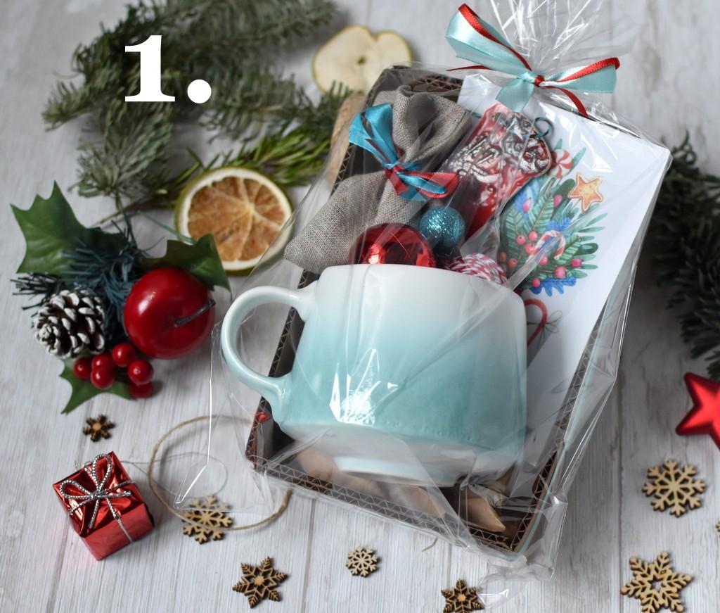 картинка Новогодний набор средний с керамической подвеской - DishWishes.Ru