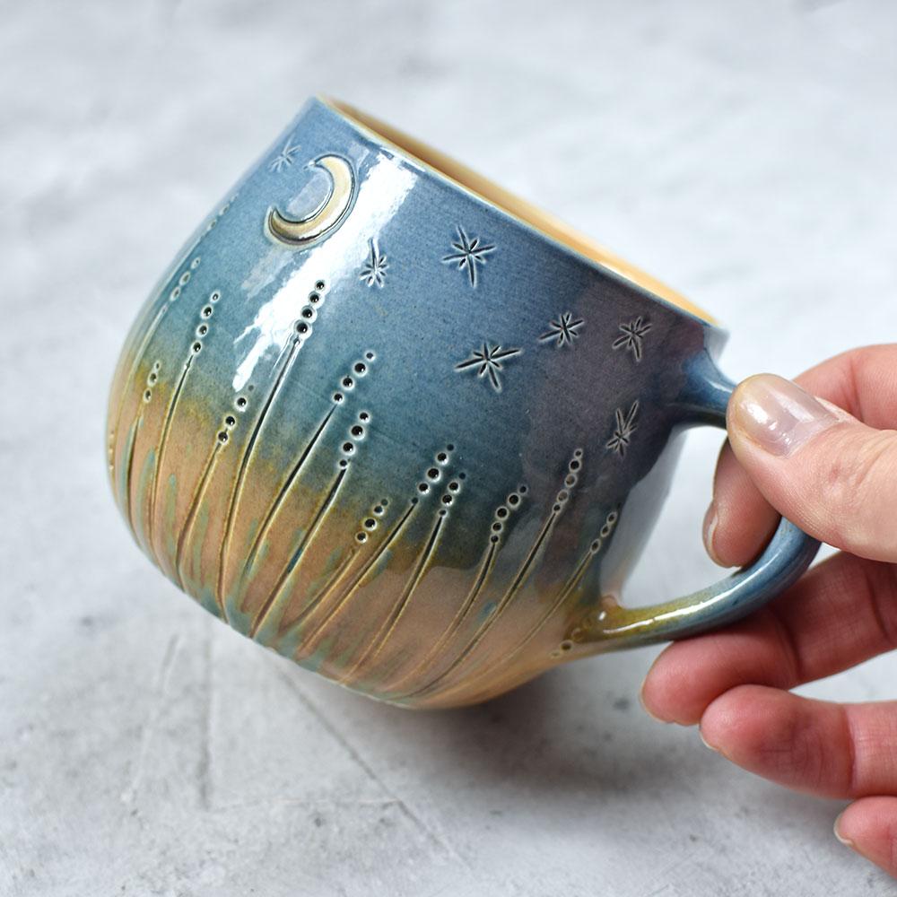 """картинка Чашка ручной работы """"Ночные огоньки"""" - DishWishes.Ru"""
