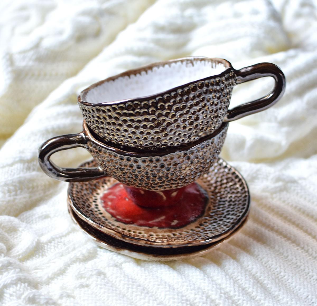 """картинка Керамическая чайная пара """"Танго"""" - DishWishes.Ru"""