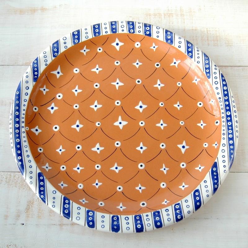 """картинка Большое блюдо """"Синие полосы и звезды"""" - DishWishes.Ru"""