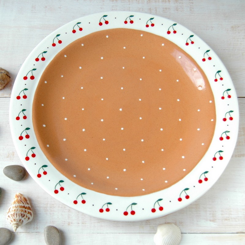 """картинка Тарелка """"Вишневый пирог"""" - DishWishes.Ru"""