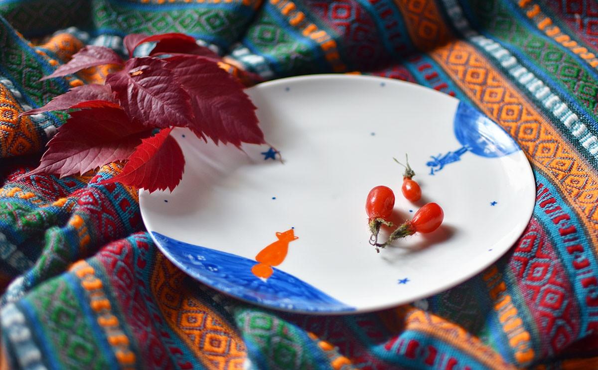 "картинка Тарелка ""Маленький принц"" - DishWishes.Ru"