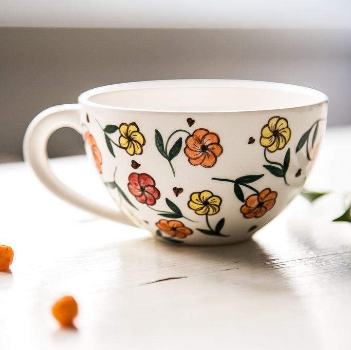 "картинка Чашка ""Цветочный праздник"" - DishWishes.Ru"