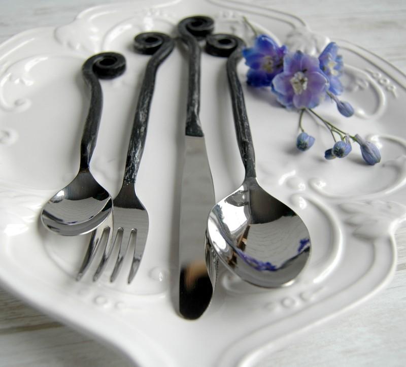 """картинка Кованая столовая ложка """"Завитки"""" - DishWishes.Ru"""