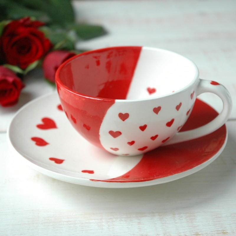 """картинка Чайная пара """"Сердечки"""" - DishWishes.Ru"""