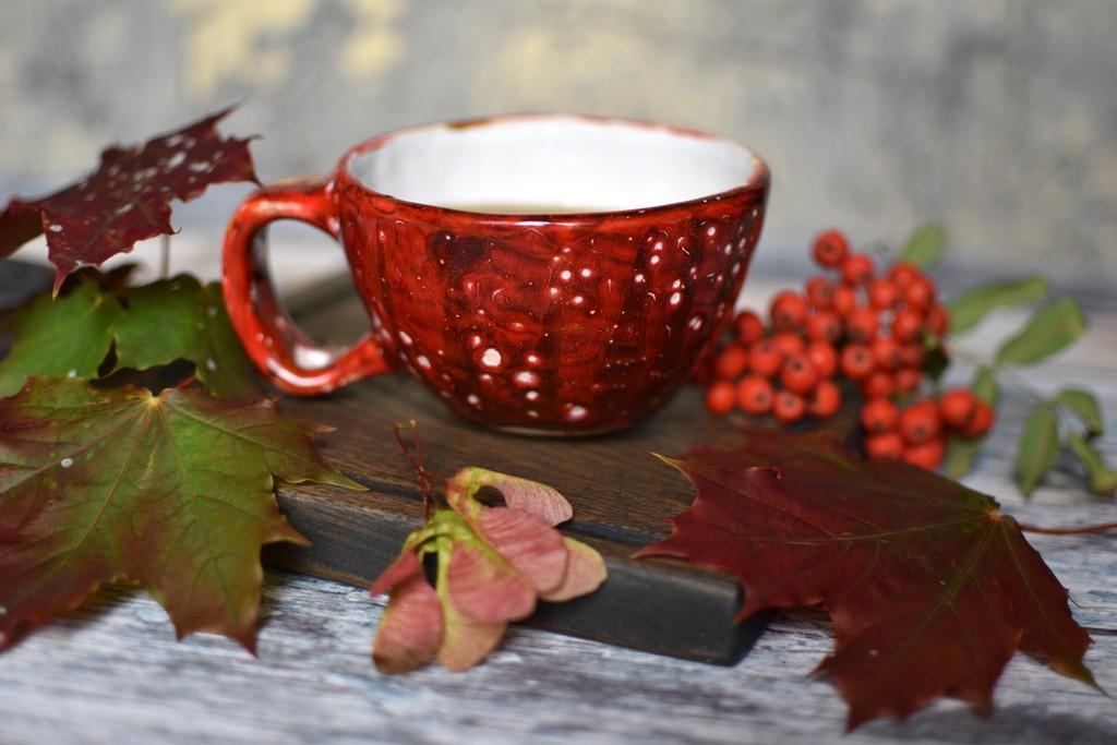 """картинка Керамическая чашка ручной работы """"Осень"""" - DishWishes.Ru"""