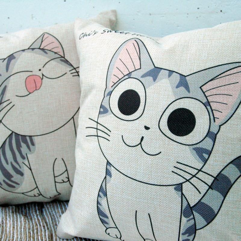 """картинка Чехол на подушку """"Котик"""" - DishWishes.Ru"""