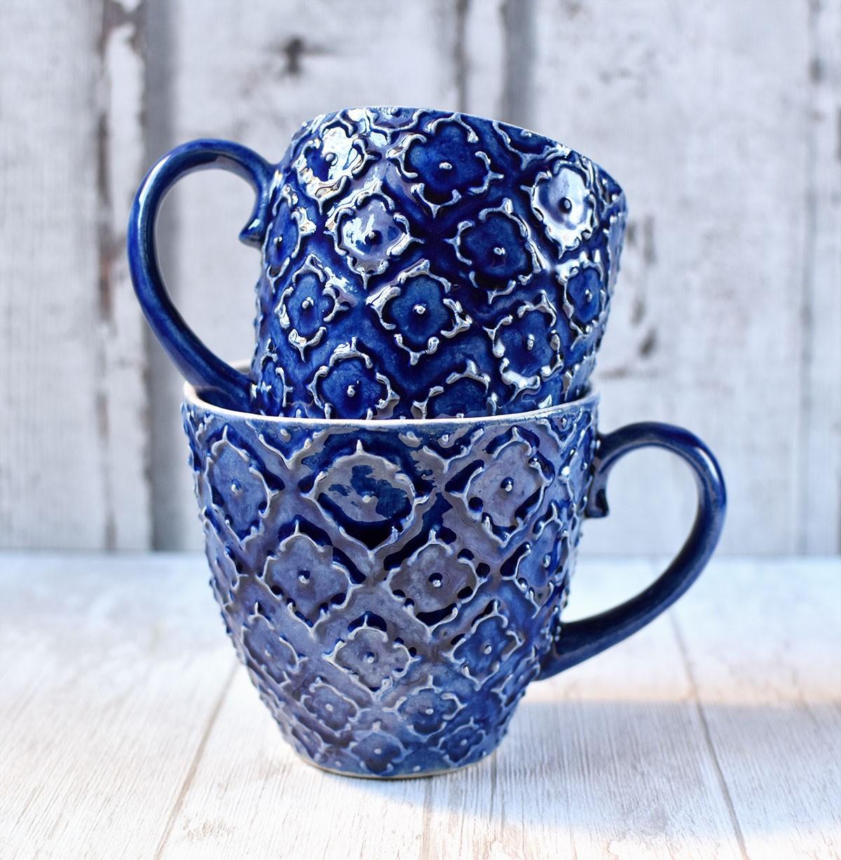 "картинка Керамическая чашка ""Азур"" синяя - DishWishes.Ru"