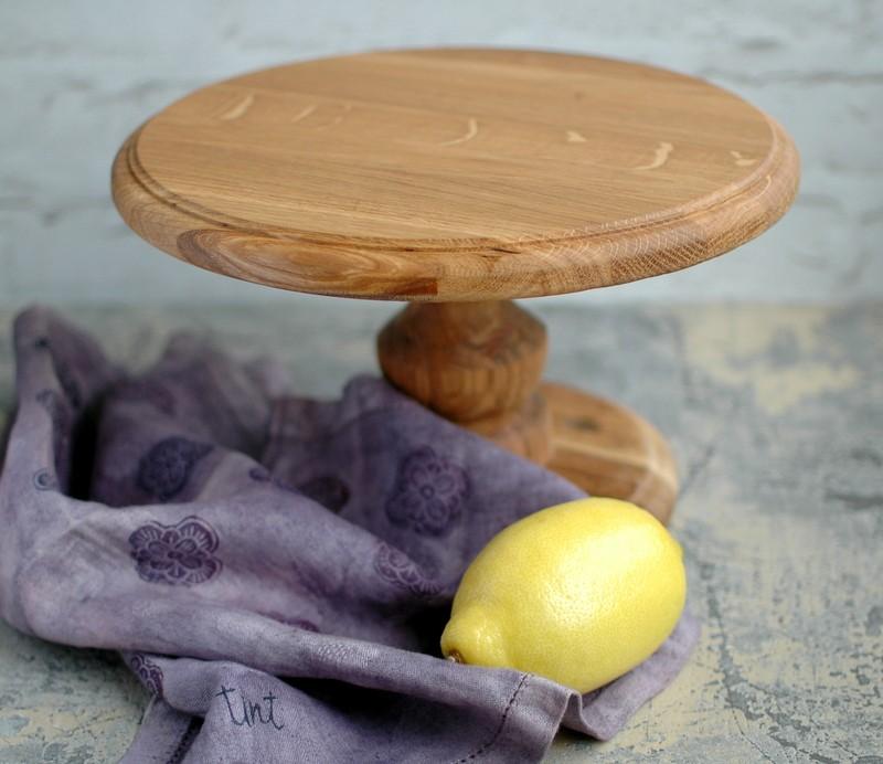 картинка Большая деревянная тортовница - DishWishes.Ru