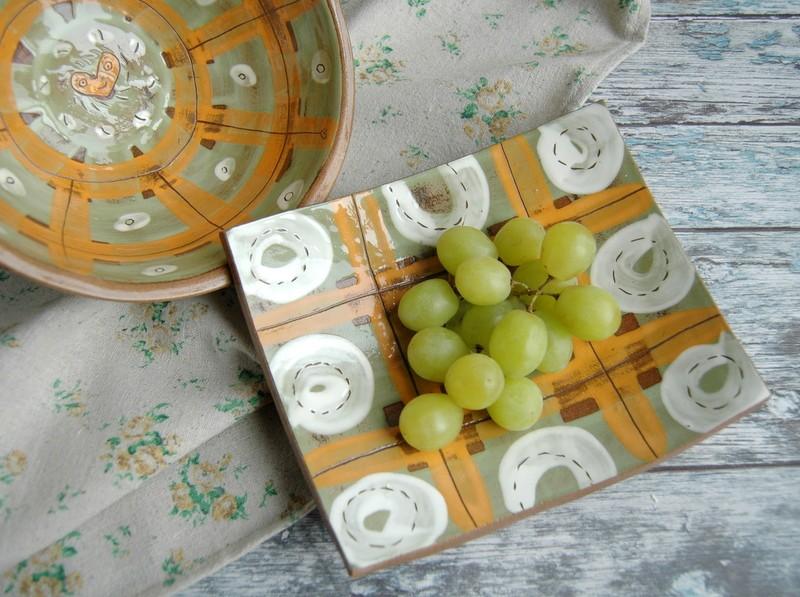 """картинка Керамическая тарелка для суши """"Солнечная"""" - DishWishes.Ru"""