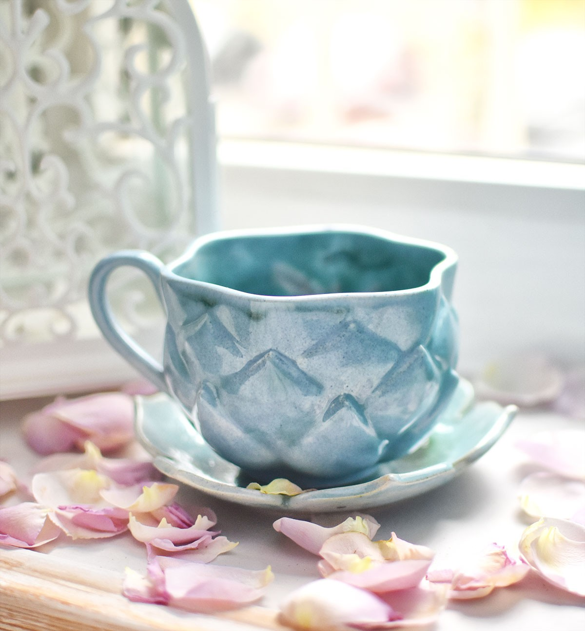 "картинка Чайная пара ""Голубой лотос"" - DishWishes.Ru"