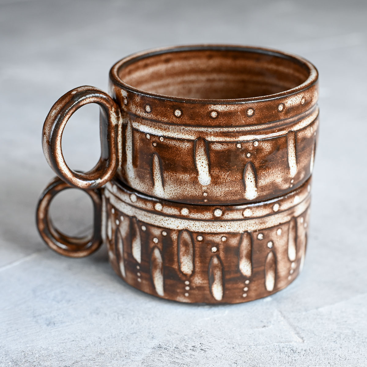 """картинка Пара кофейных чашек из серии """"Горький шоколад"""" 3 - DishWishes.Ru"""
